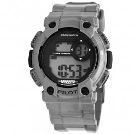 Kids Horloge Pilot Zilver Digitaal / Cool Wacht CW.277