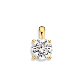Excellent Jewelry Geelgouden Hanger met Kleurloze Zirkonia