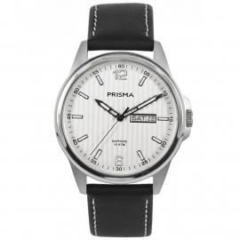Prisma Heren P.1660 Horloge Edelstaal Saffierglas 10 ATM