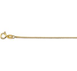 Fijn Gouden Gourmet Collier | Dikte: 1,0mm Lengte: 38cm