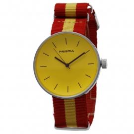 Prisma Horloge Unisex Simpel Geel Nato P.1249.38WG