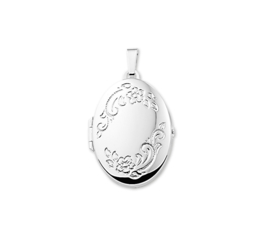 Foto Medaillon van Zilver met Decoraties 10.12038