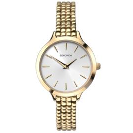 Goudkleurig Dames Horloge met Zilverkleurige Wijzerplaat