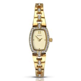 Goudkleurig Klassiek Dames Sekonda Horloge met Sierdiamanten
