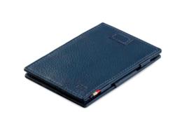 Navy Blauwe Nappa Magic Wallet Portemonnee van Cavare Garzini