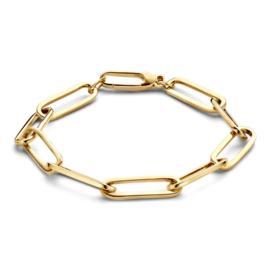 Excellent Jewelry Gouden Paperclip Armband voor Dames