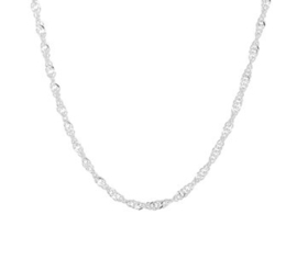 Zilveren Collier Singapore | Dikte: 2,25mm Lengte: 45cm