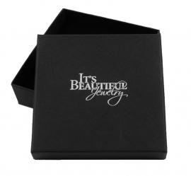 Zwart Kartonnen Sieraden-doosje 85x85x25mm