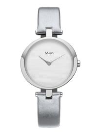 M&M Horloge met Zilverkleurige Horlogeband voor Dames