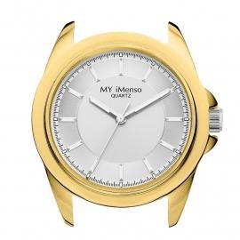 MY iMenso Horloge Kast met Zilverkleurige Wijzerplaat