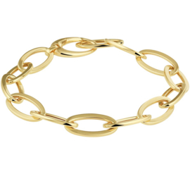 Geelgouden Draadschakel Armband voor Dames