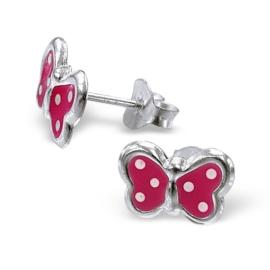 Roze vlinder oorbellen voor meisjes