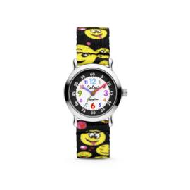 Zwart Smiley Kids Horloge van Colori Junior