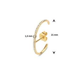 Suspender Oorbellen Diamant 0,11 ct H SI