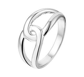 Glanzende Geronde Ring van Gepolijst Zilver