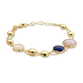 Excellent Jewelry Geelgouden Armband met Diverse Edelstenen