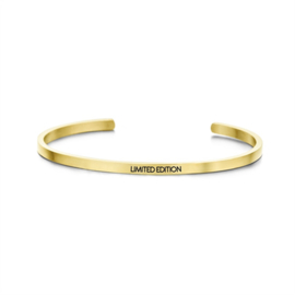 Goudkleurige 'Limited Edition' Bangle Armband van Edelstaal