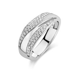 Zilveren Dames Ring Zirkonia