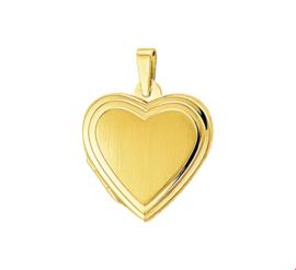 Gouden Foto Medaillon in de Vorm van een Hart