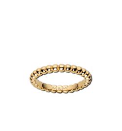 Goudkleurige Bolletjes Ring van Edelstaal van M&M