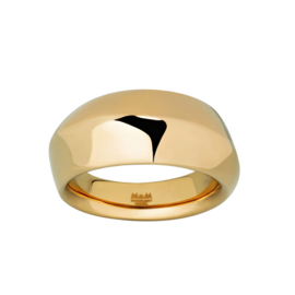 Abstracte Goudkleurige Ring van Edelstaal van M&M