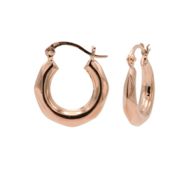 Roségoudkleurige Diamant Oorstekers 20MM | Karma Jewelry