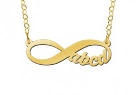 Names4ever Infinity Gouden Hanger Vier Letters