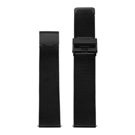 Zwarte Milanese Horlogeband van KANE