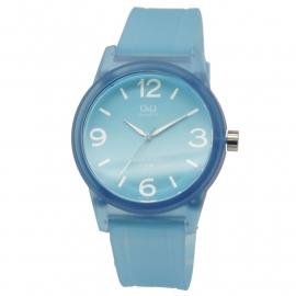 Q&Q blauw kunststof unisex horloge