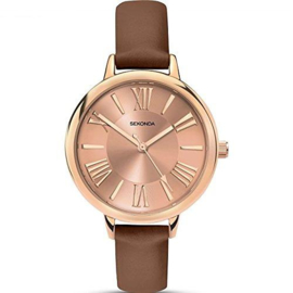 Sekonda Roségoudkleurig Dames Horloge met Romaanse Cijfers