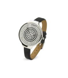 Spotty Horloge met Zwart Lederen Horlogeband van Spark