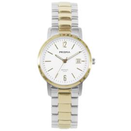 Goudkleurig met Zilverkleurig Dames Horloge van Prisma