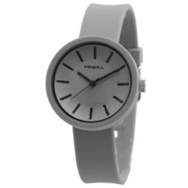 Prisma Modern Grijs Dames Horloge met Zwarte Rand