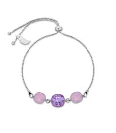 Armband van Spark Jewelry met Violet Swarovski Kristallen
