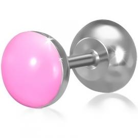 Fake piercing oorbel in de kleur roze