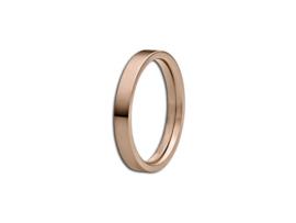 Slanke Vlakke Roségoudkleurige Ring van M&M