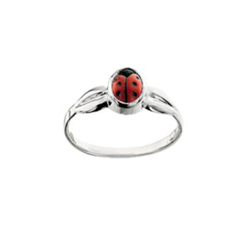 Ring met Gedetailleerd Lieveheersbeestje voor Kinderen