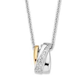 Excellent Jewelry Zilveren Collier met Fantasie Zirkonia Hanger