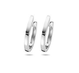 Zilveren Klapoorringen poli/mat