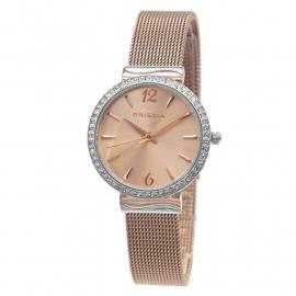 Prisma Dames Horloge P.1567 Edelstaal + Strass