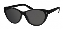 Zwarte Dames Zonnebril met Zwarte Glazen