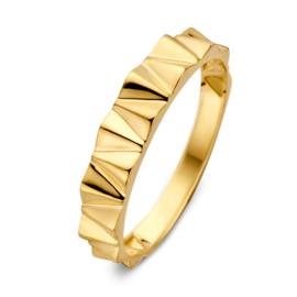 Excellent Jewelry Geelgouden Ring met Strak Design Motief