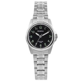 Zilverkleurig Basic Dames Horloge van Prisma