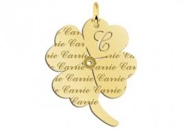 Names4ever Carrie Klaver Gouden Naamhanger