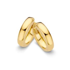 Excellent Jewelry Geelgouden Egale Creolen voor Dames