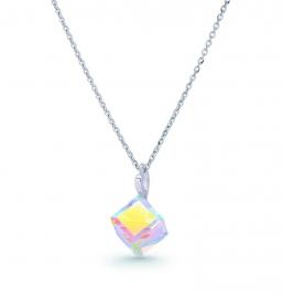 Kubus Swarovski Ketting van Spark Jewelry