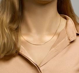 Goudkleurig Verstelbaar Venetiaans Collier   Dikte: 1,3mm Lengte: 45cm
