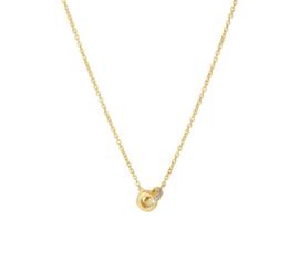 Geelgouden Collier met Diamant Ringen