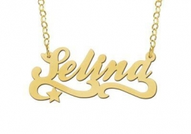 Names4ever Vergulde Selina Naamketting