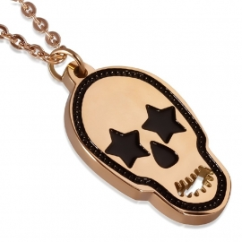Roségoud Skull Hanger + Ketting